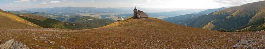 Panoramisch de zomerlandschap in Oostenrijk Stock Foto's