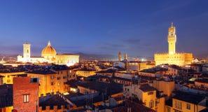 Panoramisch Florence, Italië stock fotografie
