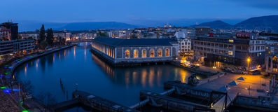Panoramisch Genève stock foto