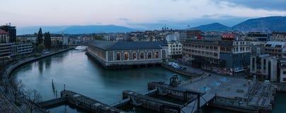 Panoramisch Genève stock afbeeldingen