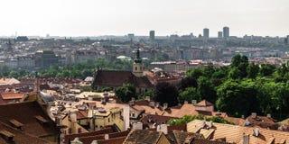 Panoramisch gezicht op Praag Stock Fotografie