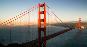 Panoramisch Golden gate bridge San Francisco Marin County Headland royalty-vrije stock foto's