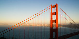 Panoramisch Golden gate bridge San Francisco Marin County Headland royalty-vrije stock afbeelding
