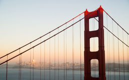 Panoramisch Golden gate bridge San Francisco Marin County Headland stock afbeeldingen