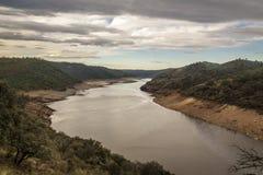 Panoramisch in het Nationale Park van Monfrague, Spanje stock foto's