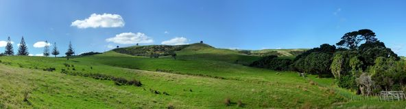 Panoramisch heuvellandschap stock foto's