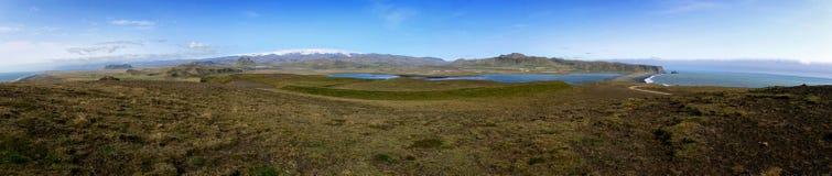 Panoramisch Ijslands landschap stock afbeeldingen