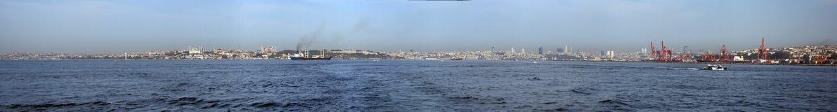Panoramisch Istanboel Royalty-vrije Stock Foto's