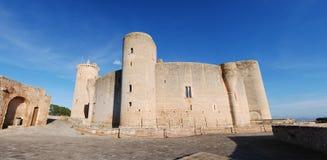 Panoramisch Kasteel Bellver (Majorca) Stock Foto