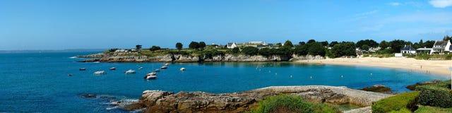 Panoramisch La van de oceaan en van het land Royalty-vrije Stock Fotografie