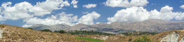Panoramisch landschap Kefalonia Griekenland royalty-vrije stock foto
