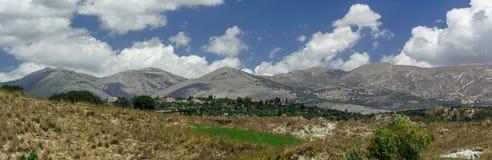 Panoramisch landschap Kefalonia Griekenland royalty-vrije stock afbeelding