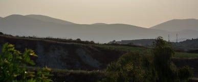 Panoramisch landschap Kefalonia Griekenland stock afbeeldingen