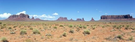 Panoramisch landschap van de Vallei van het Monument stock afbeeldingen