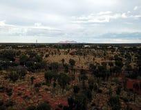 Panoramisch landschap van Kata Tjuta Olgas stock afbeelding
