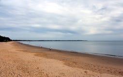 Panoramisch landschap van Torquay-strand in Hervey Bay royalty-vrije stock afbeeldingen