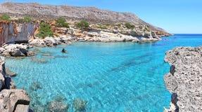 Panoramisch landschap van Van angst verstijfd Forest Lakonia Peloponnese Greece royalty-vrije stock fotografie