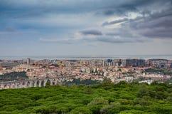 Panoramisch Lissabon stock fotografie