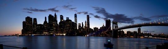 Panoramisch Lower Manhattan in de Stad van New York (2014) Stock Fotografie