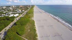 Panoramisch lucht het Westenpalm beach FL stock video