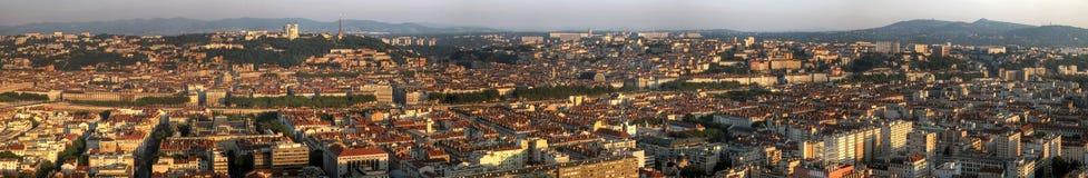 Panoramisch Lyon, Frankrijk stock foto