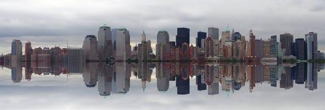 Panoramisch Manhattan Stock Afbeeldingen