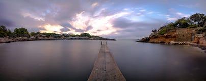 Panoramisch mit Plattform Stockfotos