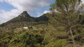 Panoramisch motie volgend schot van het schilderachtige Mediterrane landschap Mallorca, Spanje stock video