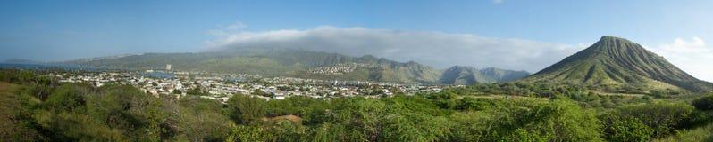 Panoramisch Oahu royalty-vrije stock afbeelding