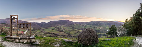 Panoramisch in Pennabilli Stockbild