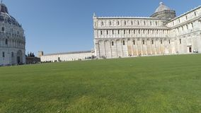 Panoramisch Pisa, lungarnos stock footage