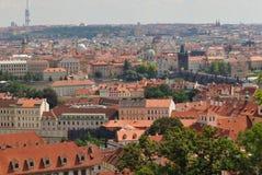 Panoramisch Praag royalty-vrije stock afbeelding