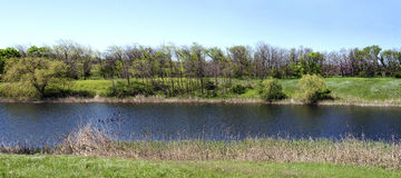 Panoramisch rivierlandschap Royalty-vrije Stock Afbeelding