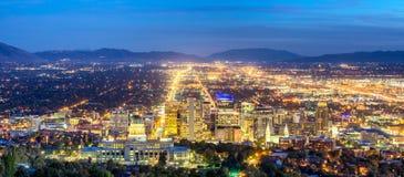 Panoramisch Salt Lake City Van de binnenstad royalty-vrije stock foto's