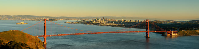 Panoramisch San Francisco stock fotografie