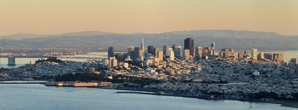 Panoramisch San Francisco stock afbeeldingen