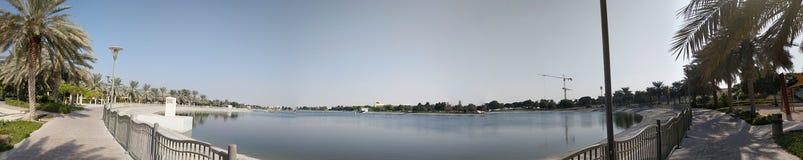 Panoramisch scènepark Doubai stock fotografie