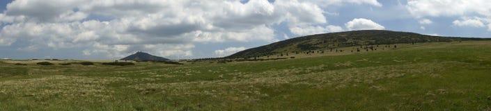 Panoramisch schot van de Sneeuwberg Royalty-vrije Stock Fotografie