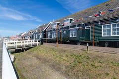 Panoramisch schot van dorp Marken Nederland Stock Foto's
