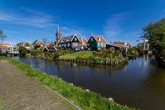 Panoramisch schot van dorp Marken Nederland Stock Foto
