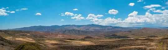 Panoramisch schot van Zonsondergangpunt, Arizona stock fotografie