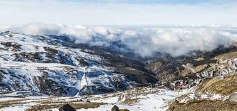 Panoramisch in Sierra Nevada stockbild