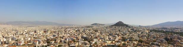 Panoramisch soort Athenes van de Akropolis Royalty-vrije Stock Afbeeldingen