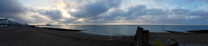 Panoramisch strand Stock Afbeelding