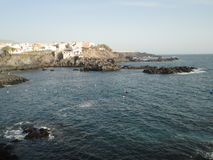 Panoramisch Strand Ténérifa Royalty-vrije Stock Afbeelding