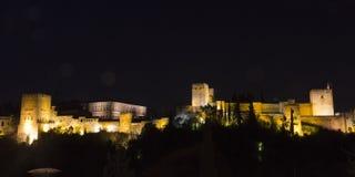 Panoramisch van Alhambra Stock Afbeeldingen
