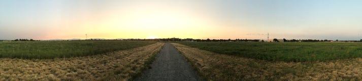 Panoramisch van de open plek stock fotografie