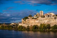 Panoramisch van eerstgenoemde en middeleeuws van Zamora Spanje royalty-vrije stock foto