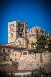 Panoramisch van eerstgenoemde en middeleeuws van Zamora Spanje stock foto's