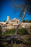 Panoramisch van eerstgenoemde en middeleeuws van Zamora Spanje royalty-vrije stock afbeeldingen